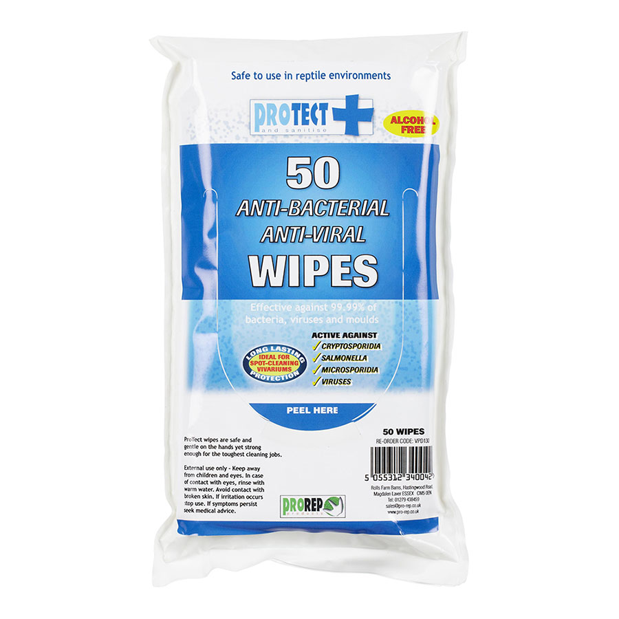 Pro Rep ProTect Hand and Surface wipes, 50 pack - OUT OF STOCK