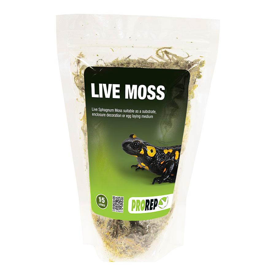 Pro Rep Live Sphagnum Moss, Small Bag (Approx 1.5 Litres)